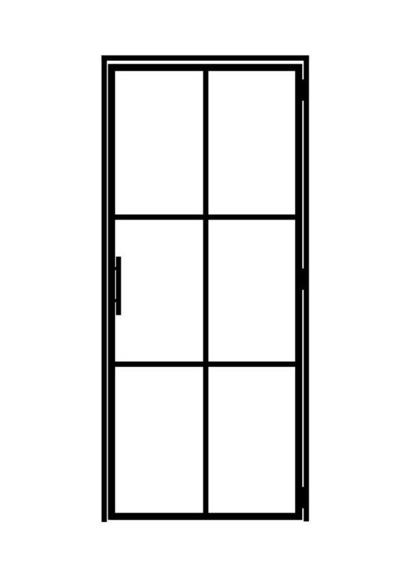 Stahl Loft Tür 870 x 2100 mm