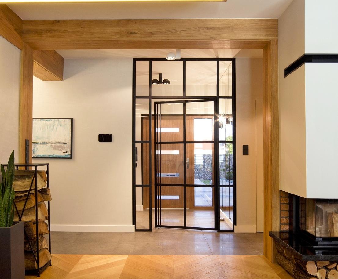 Glastür für Ihr neues Zuhause, Schiebetür aus Glas und Stahl