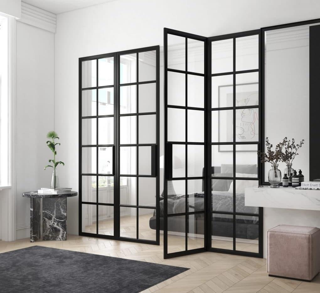 Glastür und Glastrennwand für Schlafzimmer, Raumtrenner von Loft Tür