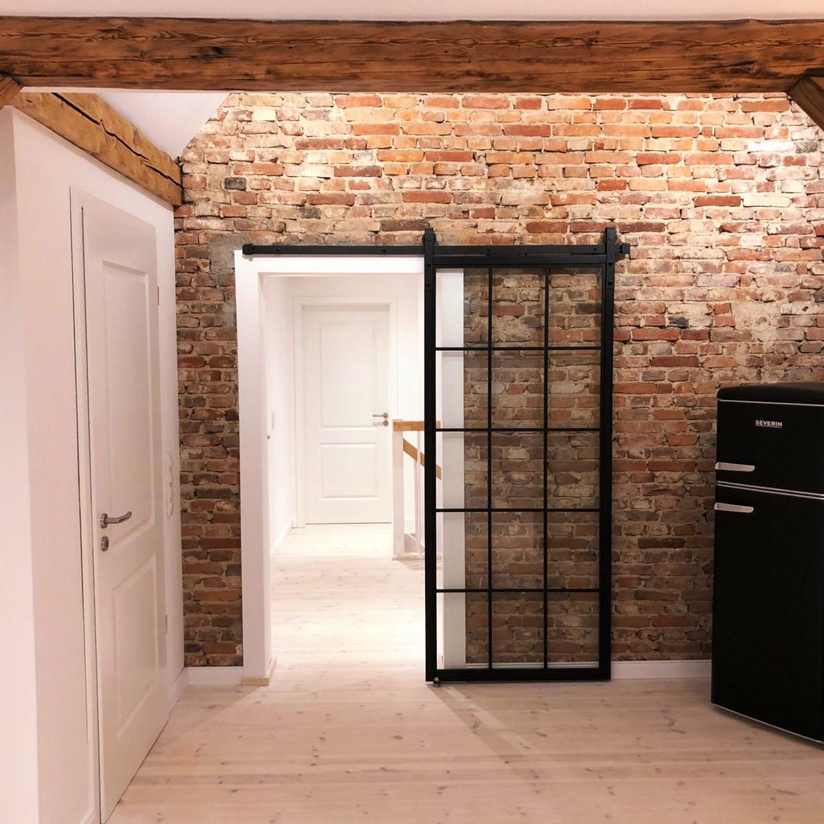Schiebetür aus Metall und Glas - Loft Tür