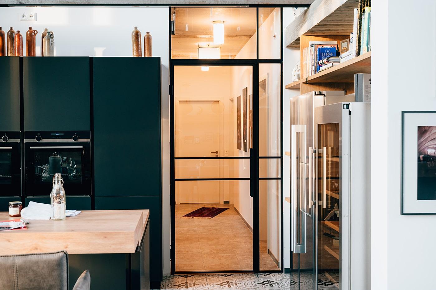 Loft Tür in der Küche