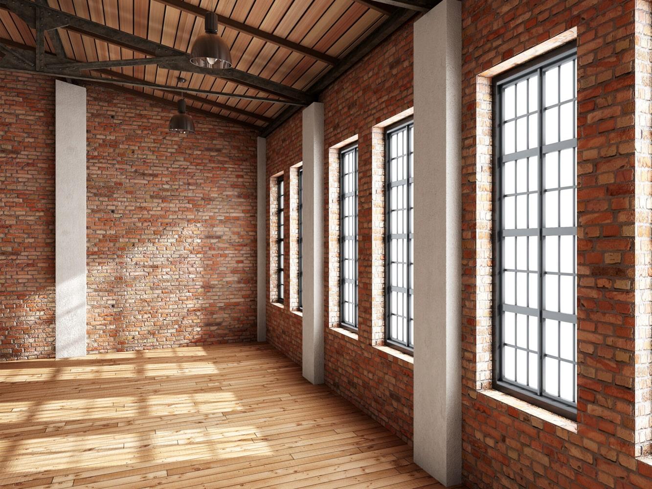 Loftfenster im Loft Stil