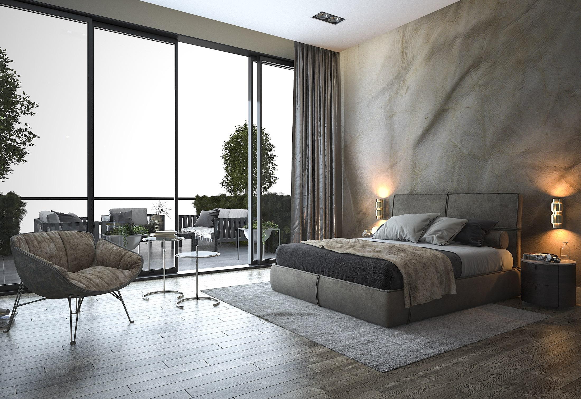 Loft Schiebetür Hotel und Hotelzimmer