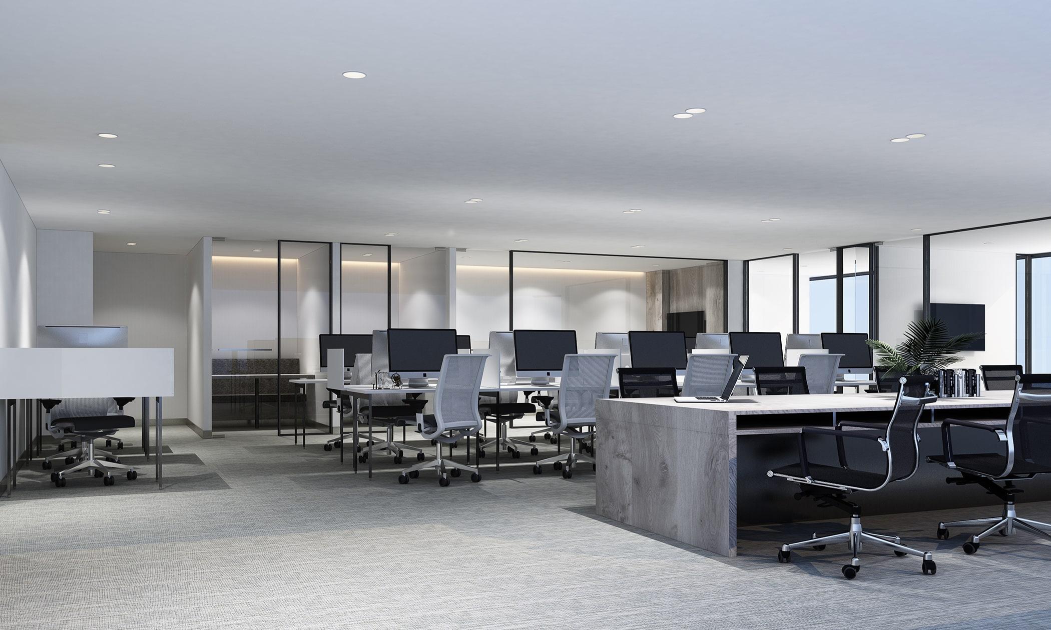 Loft Tür im Büro und Bürokomplex