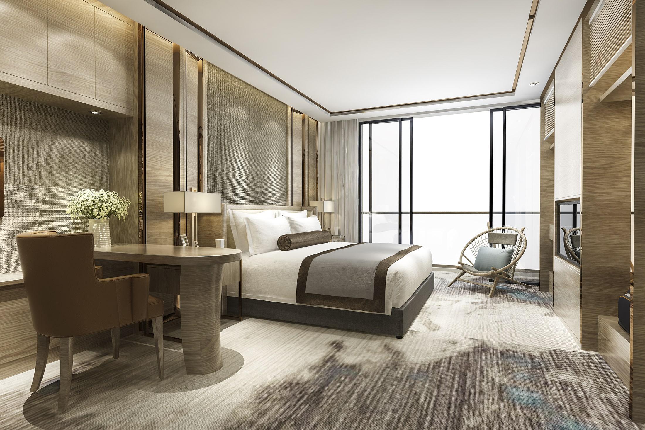 Hotelzimmer im Loft Interior