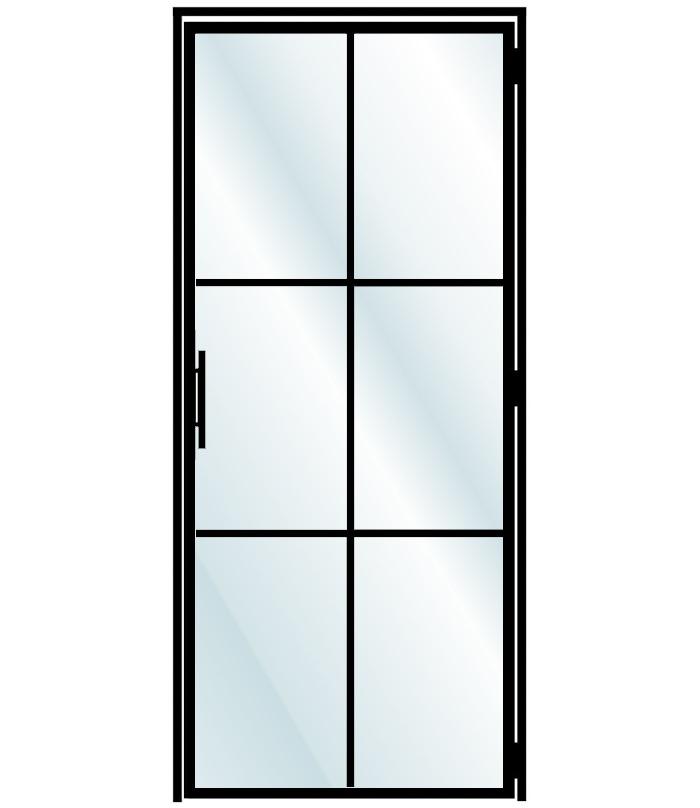 Loft Tür Klarglas