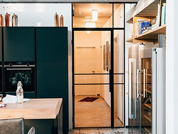 Loft Tür aus Stahl und Glas - Hamburg